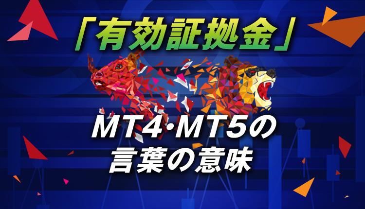 MT4・MT5の「有効証拠金」の言葉の意味